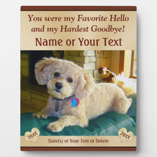 Personalized Pet Memorial Plaques with PHOTO