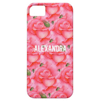 Personalized Phone Case Pink Rose