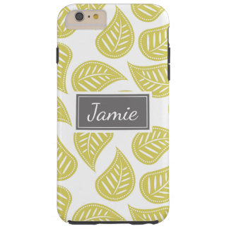 Personalized Phone Case Pretty Patterned Leaves