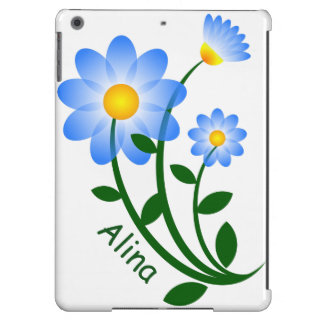 Personalized phone/iPad Case with Blue Flowers