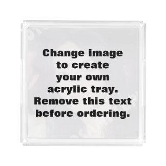 Personalized photo acrylic tray. Make your own! Acrylic Tray