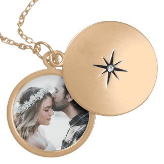 Personalized Photo Charm Necklace gold