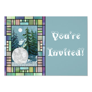 Personalized Photo Christmas Caroling Party 13 Cm X 18 Cm Invitation Card