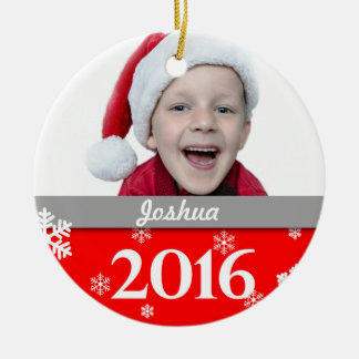 Personalized Photo Christmas Tree Ornament 2016