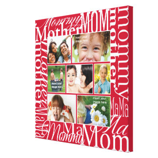 Personalized Photo Collage for Mom Canvas Print