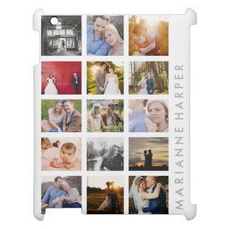 Personalized Photo Collage Gift 15 photo iPad Case