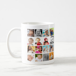 Personalized Photo Collage Make Your Own Basic White Mug
