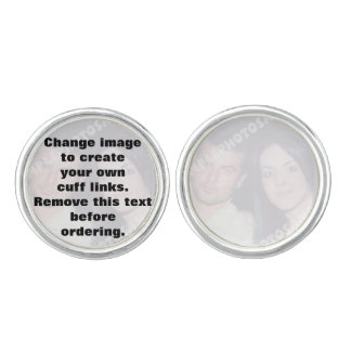 Personalized photo Cuff links. Make your own! Cuff Links