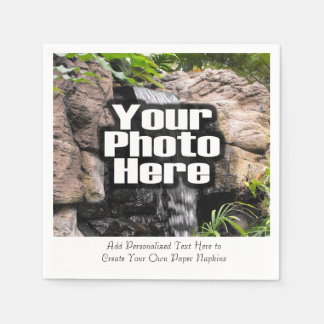 Personalized Photo Custom Digital Picture Imprint Disposable Napkins