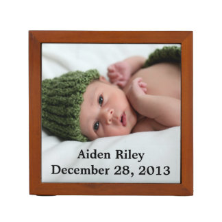 Personalized Photo Desk Organizer