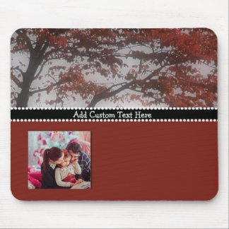 Personalized Photo Gift Custom Text Fall Decor Mouse Pad