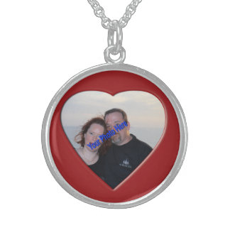 Personalized Photo Heart Shaped Sterling Silver Necklace