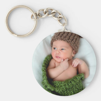 Personalized Photo Make It Yourself Basic Round Button Key Ring