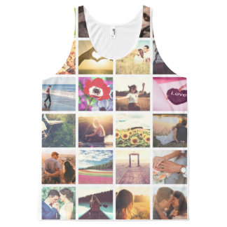 Personalized photo masaic template All-Over print singlet