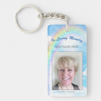 Personalized Photo Memorial Double-Sided Rectangular Acrylic Key Ring