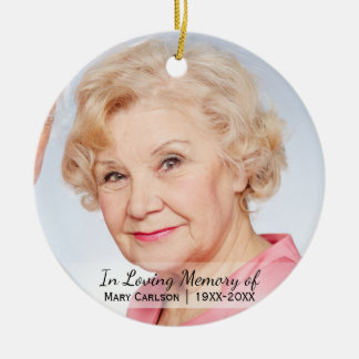 Personalized Photo Memorial In Loving Memory Ceramic Ornament