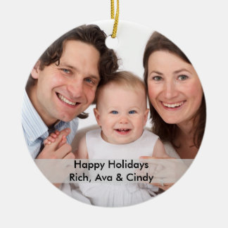 Personalized Photo Ornament with Text