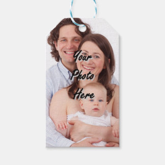 Personalized photo template gift tags