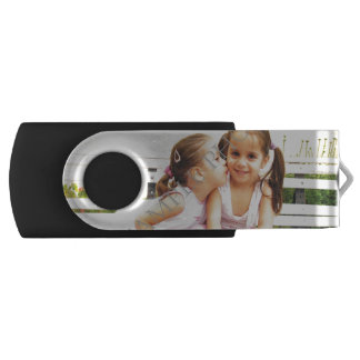 Personalized photo USB flash drive! Make your own Swivel USB 2.0 Flash Drive