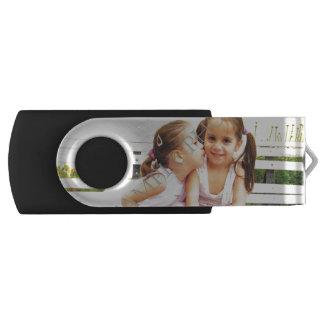 Personalized photo USB flash drive! Make your own Swivel USB 2.0 Flash Drive