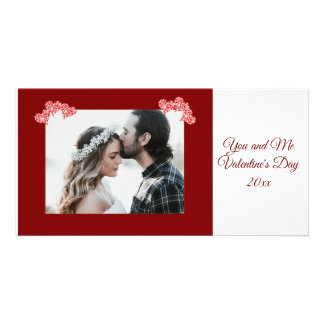 Personalized Photo Valentine's Day Hearts Card