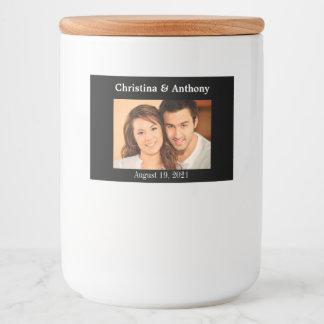 Personalized Photo Wedding Glass Jar Favor Label
