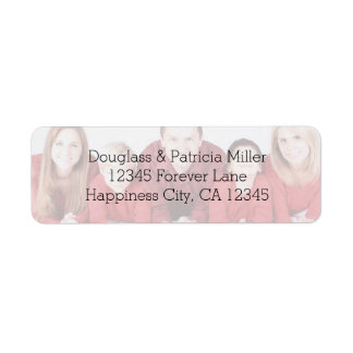 Personalized Photo Wedding or any occasion Return Address Label