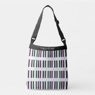 Personalized Piano Bag and Dark Rainbow Black Keys