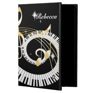 Personalized Piano Keys and Golden Music Notes