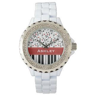 Personalized Piano Keys Wrist Watch