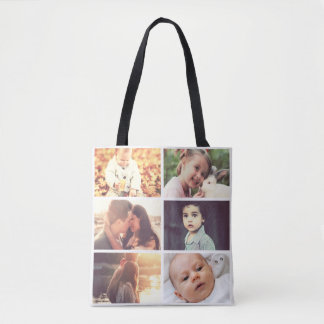 Personalized pictures tote bag