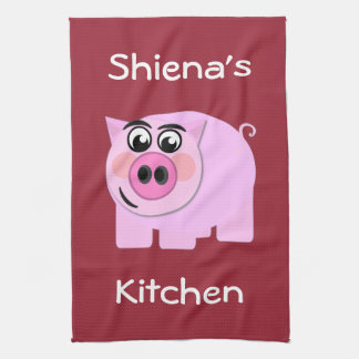 Personalized Piggy Tea Towel