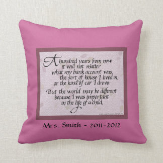 Personalized Pillow for Teacher, American MoJo