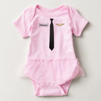 Personalized Pilot Bodysuit, Aviation Clothing Baby Bodysuit