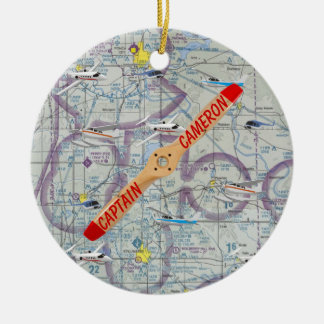 Personalized Pilot Ceramic Ornament