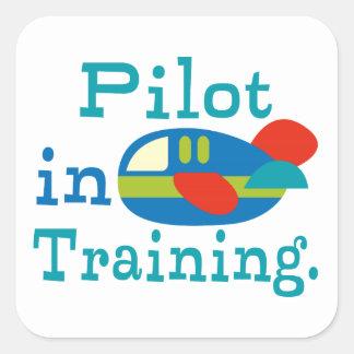 Personalized Pilot in Training Square Sticker