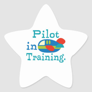 Personalized Pilot in Training Star Stickers