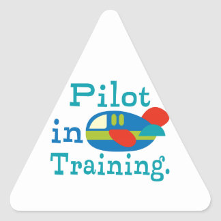 Personalized Pilot in Training Triangle Sticker