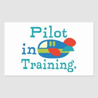Personalized Pilot in Training Rectangular Sticker