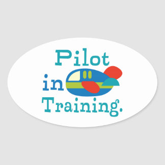 Personalized Pilot in Training Oval Sticker