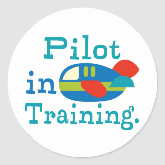 Personalized Pilot in Training Round Stickers
