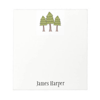Personalized Pine Tree Notepad