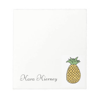 Personalized Pineapple Notepad