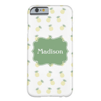 Personalized Pineapple Stamp Pattern Barely There iPhone 6 Case
