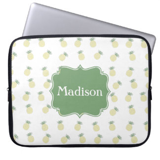 Personalized Pineapple Stamp Pattern Laptop Sleeves