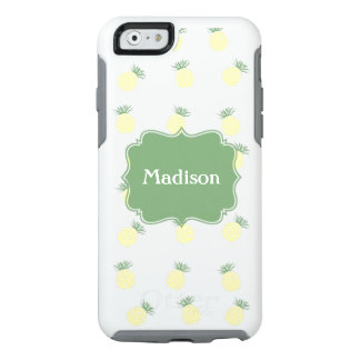 Personalized Pineapple Stamp Pattern OtterBox iPhone 6/6s Case