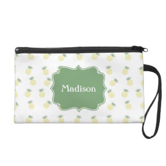 Personalized Pineapple Stamp Pattern Wristlet Clutches