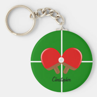 Personalized Ping Pong Key Ring