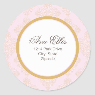 Personalized Pink Address Label/Merchandise Seal Stickers