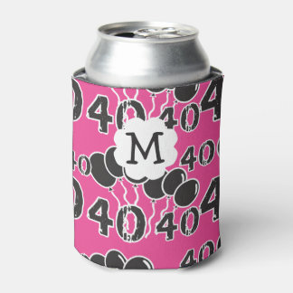 Personalized PINK and BLACK 40th Birthday